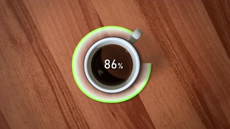 núpcias : Loading process with the cup of coffee rotating