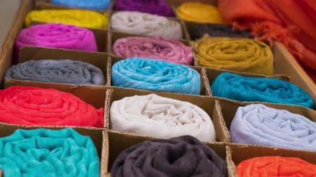 головной платок : Colored scarves on sale in the shop