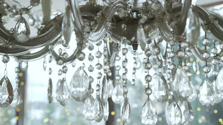 żyrandol : Crystal Chandelier with Bokeh Balls on Background