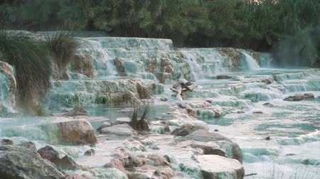 Saturnia Thermal Baths at Mulino, Italy. Waterfalls and Hot Springs are a Natural Attraction of Southern Tuscany
