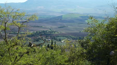 Amazing Landscape of Colorful Tuscan Meadows. View from the Top. Concept of Holidays and World Travel Concept