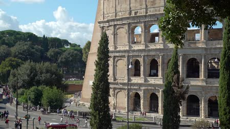 ismert : Rome, Italy - October 5, 2019: Colosseum or Coliseum is a Landmark and One of the Best Known Monuments of Italy. Concept of Holidays, Vacations and Travel in Europe