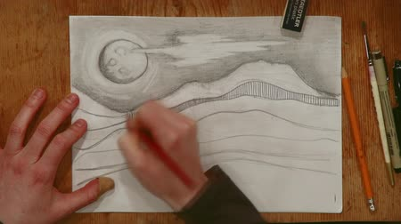 lét : A time-lapse of a creative illustration being drawn.