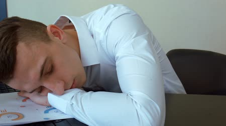 napping : businessman sleeping on the job