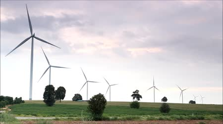 türbin : Wind turbine in Thailand Stok Video