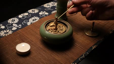shui : Formation of incense shape. Chinese tea ceremony