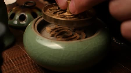 Forming a figure of incense