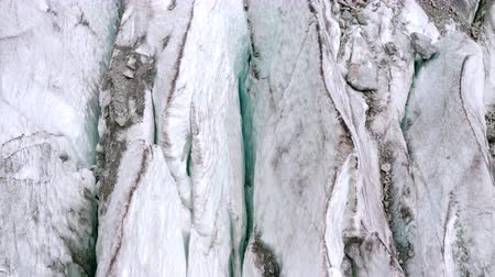 Glacier in Georgia, close shot from a drone