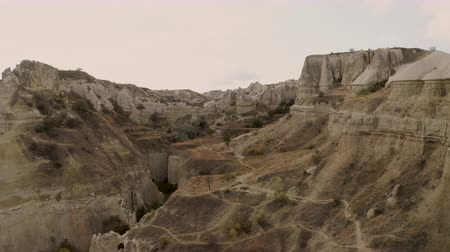 Cappadocia, Turkey, Pigeon Valley, a very beautiful drone span Stock Footage
