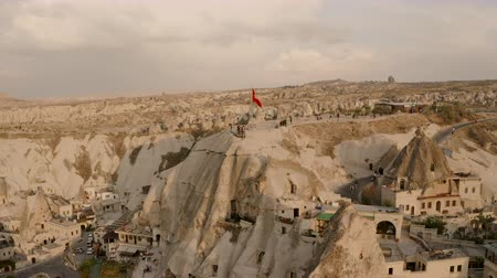 Cappadocia, Turkey Goreme. Aerial view of the city