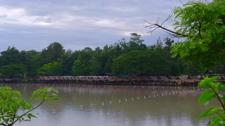reservoir : 4k video of Huay Tueng Tao reservoir, Thailand.