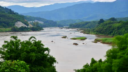 birma : 4K time lapse video of Mekong river, Thailand.