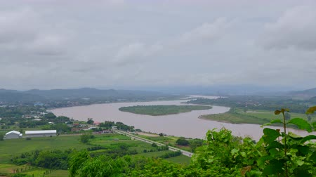 the mekong : 4K time lapse video of Mekong river, Thailand.