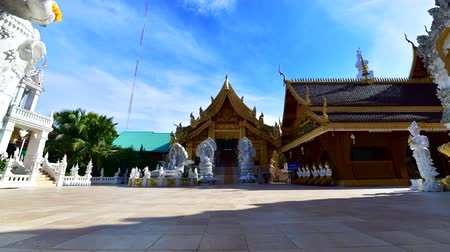 luang : 4K time lapse video of San Pa Yang Luang temple, Thailand.