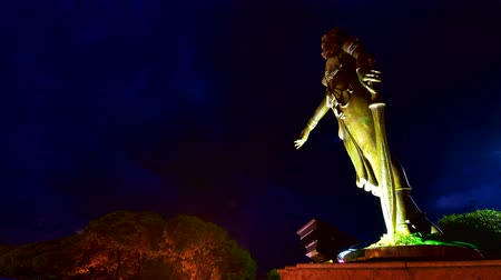 symbol of respect : 4K time lapse video of Queen Chamadevi monument, Thailand.