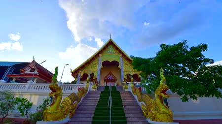 4K time lapse video of Thai style church in Sri Umong Kham temple, Thailand.