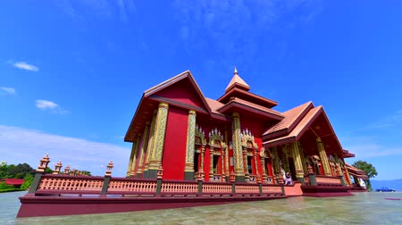 moldagem : 4K time lapse video of Prayordkunpol Wieng Ka Long temple, Thailand.