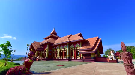 4K time lapse video of Prayordkunpol Wieng Ka Long temple, Thailand.