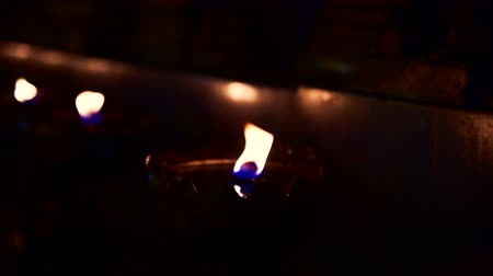 Slow motion video of blurred flame, Thailand.