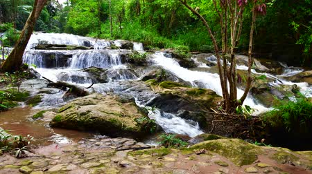 4K time lapse video of Mae Sa Noi waterfall, Thailand. Stock Footage