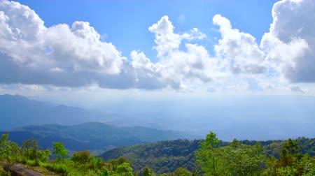 4K time lapse video of mointain with cloud flowing in Chiangmai province, Thailand.