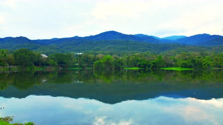 kaew : 4K time lapse video of Ang Kaew reservoir in Chiang Mai province, Thailand.