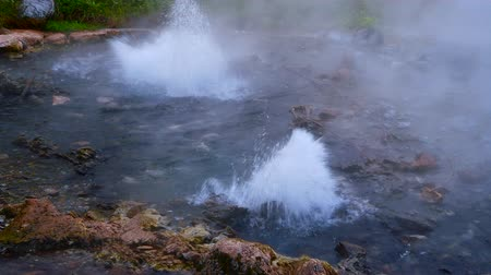 huai : 4K video of Pong Dueat hot spring in Huai Nam Dang national park, Thailand.