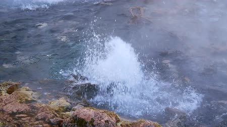 huai : Slow motion video of Pong Dueat hot spring in Huai Nam Dang national park, Thailand. Stock Footage