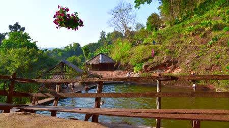 hill tribe : 4K time lapse video of pool in Doi Pui Mong hill tribe village, Thailand.