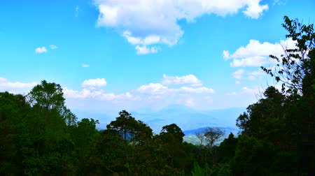 4K time lapse video of mountains view with clouds flowing in Huai Nam Dang national park, Thailand.