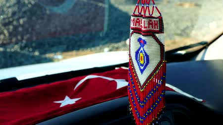 arabesk : Turkse ambachten, gebreid auto-decor ornament met parel