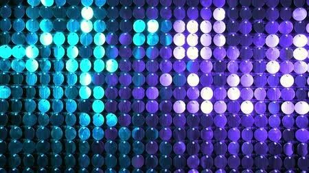 yansıtıcı : Blue and purple sparkles shining reflective background. Abstract kinetic glitter wall moving. Night club decoration. Can be used as transitions, added to modern projects,art backgrounds.