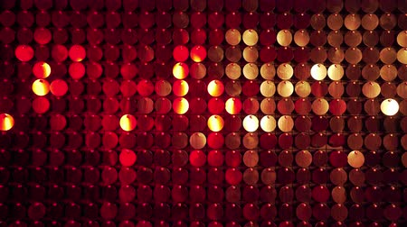 tablica : Red Sequins sparkling reflective background. Abstract kinetic glitter wall moving. Night club decoration. Can be used as transitions, added to modern projects,art backgrounds.