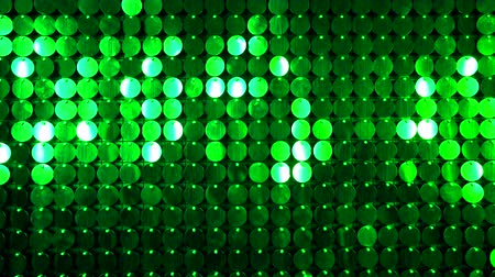 kinetik : Abstract green kinetic glitter wall moving. Sparkles shining reflective background. Night club decoration. Can be used as transitions, added to modern projects,art backgrounds. Stok Video