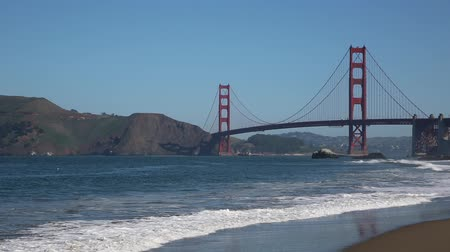 приморский : Golden Gate Bridge - view from Baker Beach - San Francisco, California