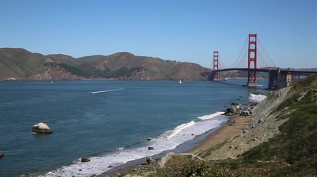 goldene : Golden Gate Meerenge und Golden Gate Bridge, Kalifornien
