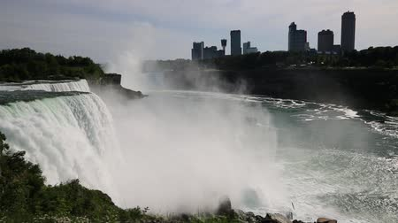 populární : View at Niagara Falls and Niagara - New York