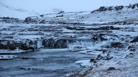 creek : Cascades on river - Iceland