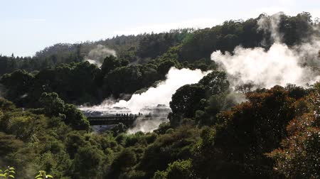 давление : Tourists in geothermal valley, New Zealand
