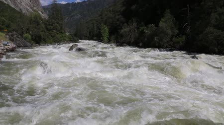 sierra nevada : Merced River - California Stock Footage