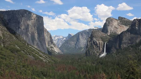 np : Tunnel view, California, Yosemite NP Stock Footage