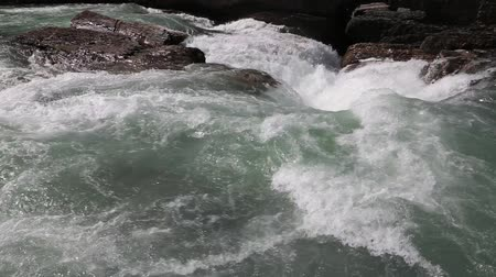 ingiliz columbia : Pounding water - Yoho NP, Canada Stok Video