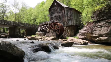 Виргиния : Glade Creek and Grist Mill, WV Стоковые видеозаписи