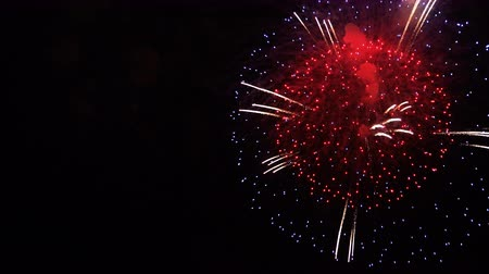 consecutivo : the firework on the night sky Stock Footage