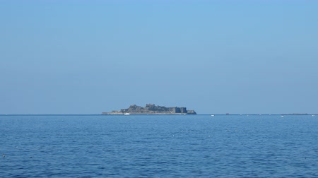 gunkan : seascape with Hashima island in Japan