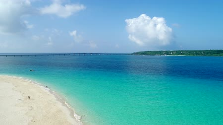 wavelets : the beautiful seascape at Okinawa in Japan