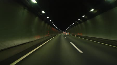 cars traffic : driving in the dark tunnel