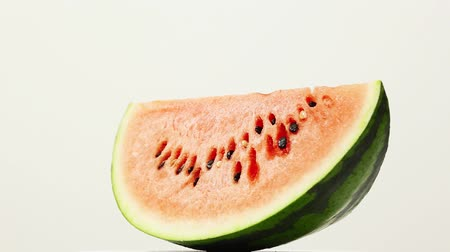 cross section : the watermelon on the white background
