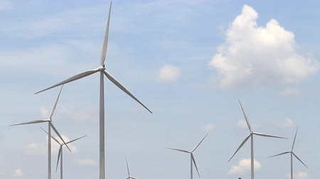 electric : Wind turbines generating electricity