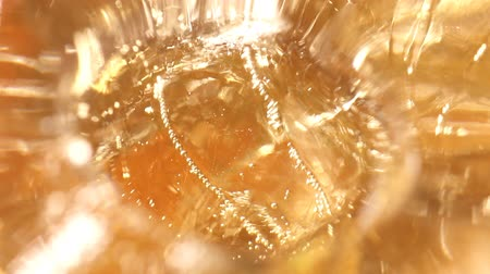 whisky : whiskey and ice in glass, bubble float, background
